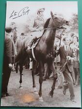 Lester Piggott Signed Horse Racing Photo 16x12 COA AFTAL RD#175