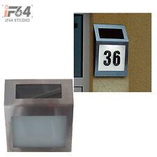 Solar Address Sign Lighted House Number Address Plaque Outdoor LED Light Sign