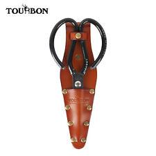 Tourbon Handcrafted Leather Sheath for Garden Barber Scissors Case Belt Hoster