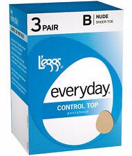 LEGGS EVERYDAY CONTROL TOP/SHEER TOE PANTYHOSE B SUNTAN (3 Pk)