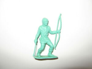 Marx robin hood original castle figures turquoise with bow and arrow 1950's rare