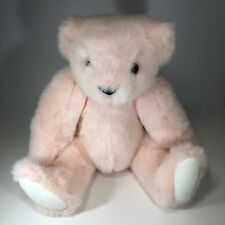 """Vermont Teddy Bear Co. Usa Pink Jointed Arms Legs Head 16"""""""