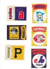 6 FLEER 1968-72 CLOTH STICKERS ANGELS EXPOS REDS TWINS PIRATES-2