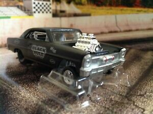 Hot Wheels 1966 CHEVROLET SUPER NOVA gasser REAL RIDERS 1/64-scale MURDERED OUT