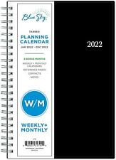 Blue Sky 2022 Weekly Amp Monthly Planner 5 X 8 Flexible Cover Wirebound New