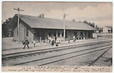 RARE Railroad Train Depot Station - RW&O RR -  Hilton NY 1907 - Monroe County