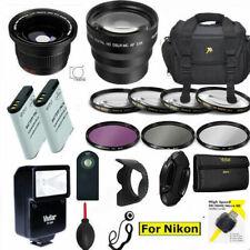 PRO ACCESSORY Kit FOR NIKON COOLPIX P950 67MM  BAG LENSES FLASH 2X EN-EL20 HOOD