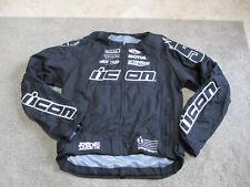 Icon Racing Motorcycle Jacket Adult Extra Large Padded Biker Racer Coat Mens