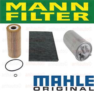Set of 3 OEM Diesel Filter Kit VW Fuel Filter,Air Filter,Charcoal Cabin Filter
