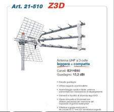 Antenna triplex Offel Z3D UHF a 3 culle leggera e compatta canali 21-60 LTE