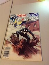 Web of Spider-Man 1, VF 8.0, Spider-Man v. Venom Symbiote; Charles Vess Cover