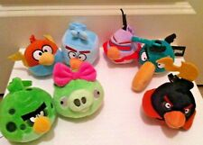 "Angry Bird Plush Clip Set of 7 BIRDS- 3"" Plush Clip On-Some Rare Finds!!"
