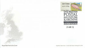 (65159) GB FDC Post and Go Pigs National Postal Museum Archive London 2012