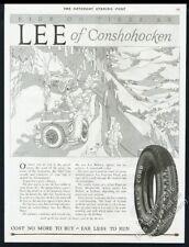 1927 Lyle Justis scenic view road art Lee Tire vintage print ad