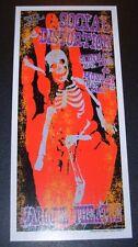 "SOCIAL DISTORTION Handbill Litho Print 9.25X4.25"" like poster art LINDSEY KUHN"