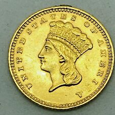 1861 Gold Dollar - Type 3 G$1  Excellent Condition - loop Removed - Rare Coin!
