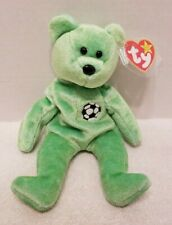TY Beanie Baby Retired Kicks The Soccer Bear with Errors/Issues