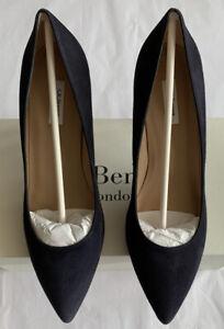 LK Bennett Floret Navy Suede Court Shoes UK 8 41 BNWT RRP £195