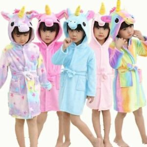 1 Pc Children Towel Beach Baby Bath Robe Animal Rainbow Unicorn Boys Girls Night