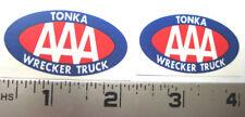 Replacement water slide decal set for Tonka AAA Wrecker Truck