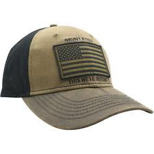 Grunt Style Veteran Flag Hat - Brown