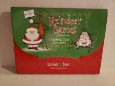 Leanin' Tree Box Set of 20 Christmas Holiday Greeting Cards ~ REINDEER GAMES