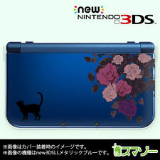 """New"" Nintendo 3Ds Xl cover clear case hard cat and roses from Japan cds001"