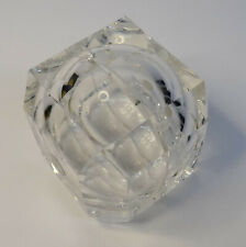 Acryl Plexi Glas Designer Würfel 2 teilig Spardose mid century design 1970er