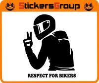 ADESIVO RESPECT FOR BIKERS  PER AUTO MOTO SCOOTER IN VINILE NEW