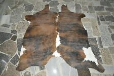 """NEW Cowhide Rug HAIR ON SKIN  Leather cowhide  981-  71"""" x 68"""""""