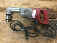 "Milwaukee 1107-1 Heavy Duty 1/2"" Right Angle Corded Drill 7 Amp 10/L4372A"
