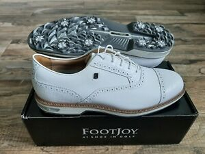 NEW 2021 FootJoy Dryjoys Premiere Tarlow Mens Golf Shoes White 12 Narrow 53903