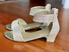 The Children's Place Gold Glittered Heels Sparkle Shoes Ankle Strap Girls 3Y