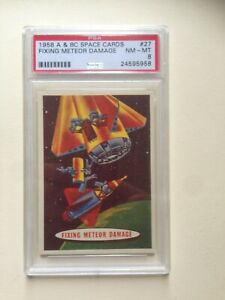 SPACE CARDS UK #27 1958 A&BC (PSA 8 NM-MT)