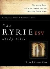 The Ryrie ESV Study Bible Bonded Leather Burgundy Red Letter Indexed (Ryrie Stud