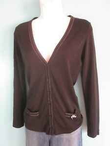 Black Cardigan Sweater Marc Cain Size S Womens
