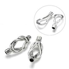 Kumihimo End Cap/ Magnetic Clasp Celtic Knot Twist Silver 5mm (FNCM4085)