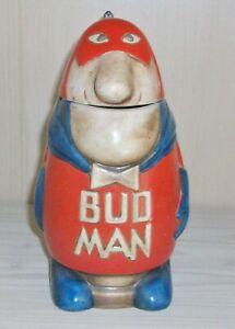 Vintage Bud Man ceramic Budweiser lidded mug, stein - Ceramarte