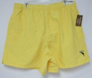 Caribbean Roundtree & Yorke Size Large Bright Yellow New Mens Swim Trunks Shorts
