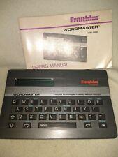 Franklin Wordmaster Wm-1000 Vintage 1987 With instructions