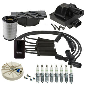 🔥DELPHI Tune Up Kit NGK Spark plugs & Coil For 96-99 Chevy K1500 K2500 5.7L🔥