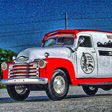 RAREST – EAGLE CLAW HOOKS FISH 1949 Chevy 1-Ton Panel Truck - First Gear