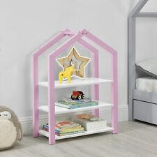 [en.casa] Kinderregal Bücherregal Regal Standregal Medienregal Aufbewahrung Rosa