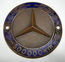 Mercedes Benz 500.000 km Plakette Medaille Ehrung Abzeichen Sammler Oldtimer