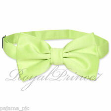 Classic New Lime Green Men's Pre-tied Bowtie Bow tie wedding Party Prom