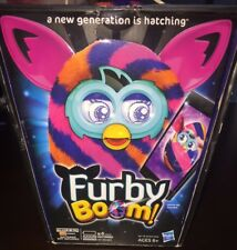 FURBY BOOM Stripes Plush Doll Creature Talks Learns Speak Virtual LN { Get App }