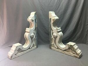 Pair Large Antique White Roof bracket Corbels Shabby Vintage Chic Old 769-20B