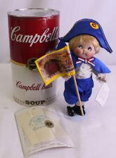 "Campbell's Soup Collectible 10"" Porcelain Doll Kids CK-2 George Washington 1994"