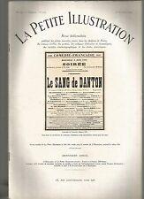 LA PETITE ILLUSTRATION N°283 - LE SANG DE DANTON