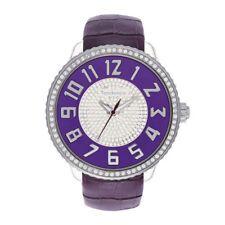 Tendence Gulliver Round Unisex Quartz GLAM Watch Purple TG430044
